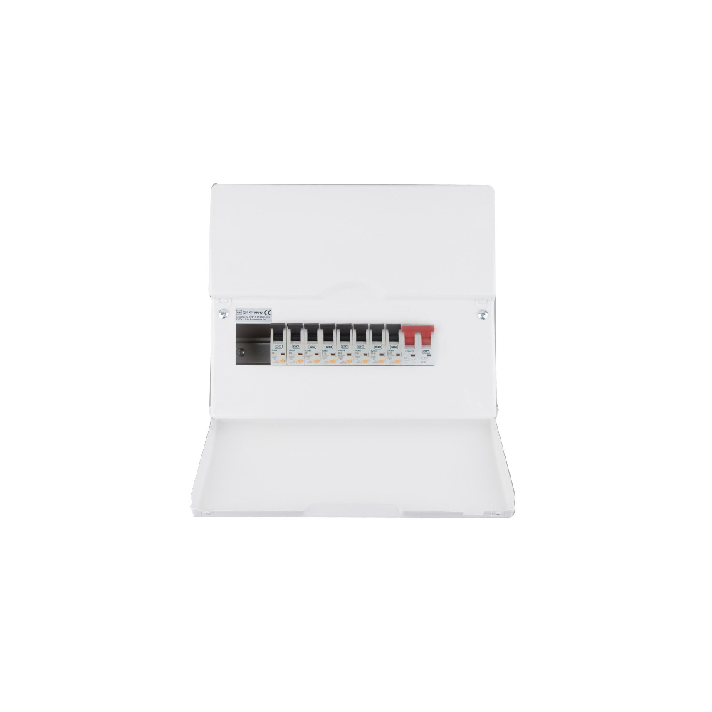 Main Switch Populated 10 Way Consumer Unit