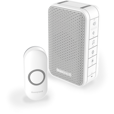 PrevNext & Honeywell Series 3 Wireless Portable Doorbell Kit with Halo Light ...