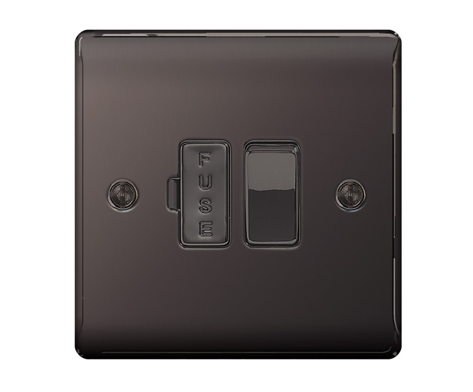 nbn50 black nickel 13a switched spur the electrical. Black Bedroom Furniture Sets. Home Design Ideas