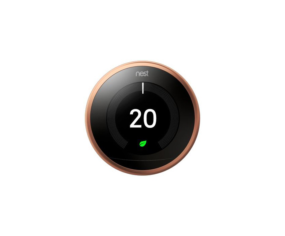 NEST T3018GB COPPER FINISH LEARNING THERMOSTAT FOR SMART HOMES