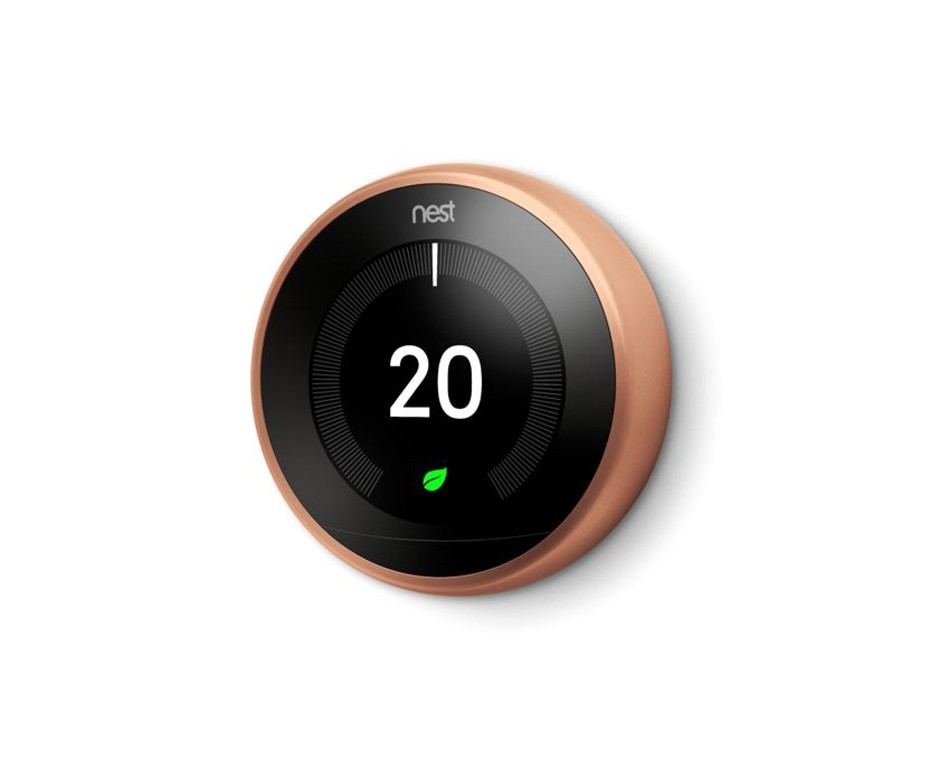 SMART HOME THERMOSTAT FROM NEST COPPER FINISH