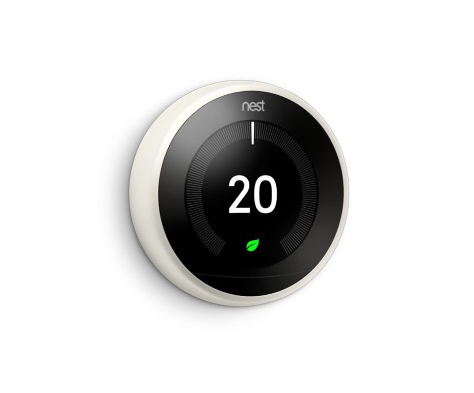 NEST T3020GB WHITE FINISH LEARNING THERMOSTAT FOR SMART HOMES