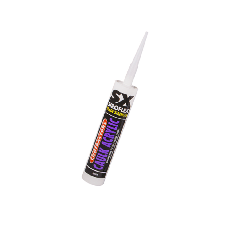 Unicrimp Acrylic Decorators Caulk, White, 300ml