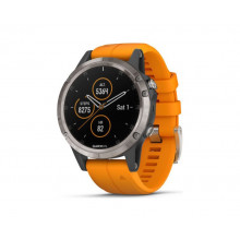 Garmin Fenix 5 Plus Sapphire Mulitsport GPS Smart Watch - Titanium/Orange