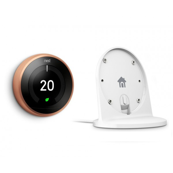 Nest® Learning Thermostat & Stand Special Offer - 3rd Generation, Copper