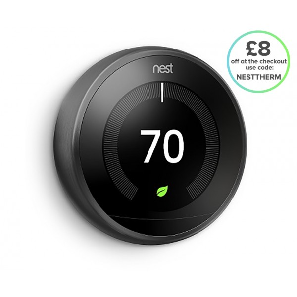 Nest® Learning Thermostat - 3rd Generation, Black