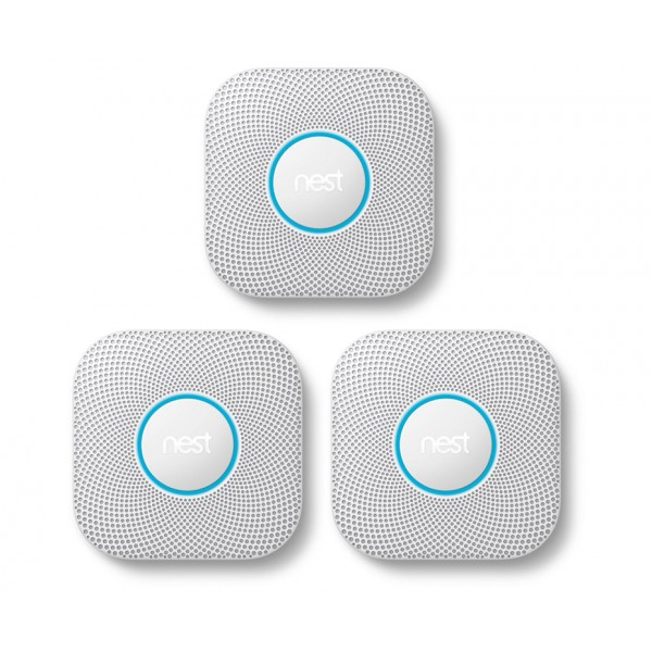 Nest® Protect 2nd Generation Smoke & Carbon Monoxide Alarm, Battery - PACK OF 3