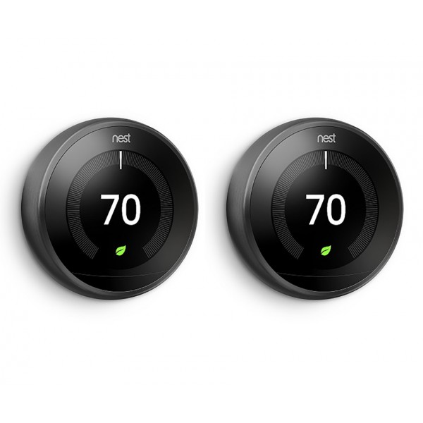 Nest® Learning Thermostat - 3rd Generation, Black - TWIN PACK