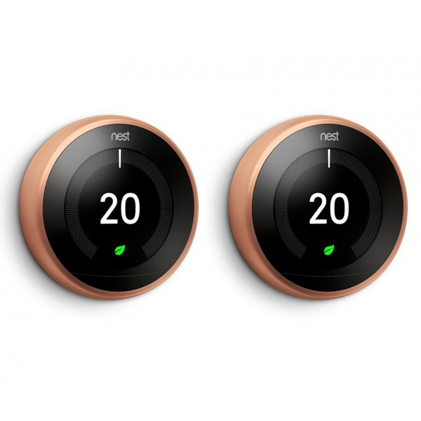Nest® Learning Thermostat - 3rd Generation, Copper - TWIN PACK