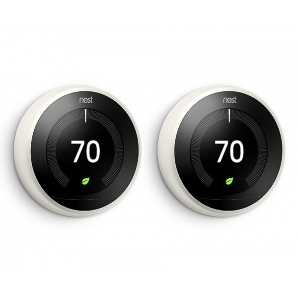 Nest® Learning Thermostat - 3rd Generation, White - TWIN PACK