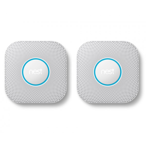 Nest® Protect 2nd Generation Smoke & Carbon Monoxide Alarm, Wired - TWIN PACK