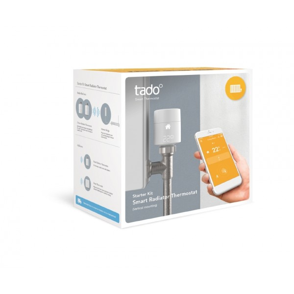Tado Smart Radiator Thermostat Kit - Vertical