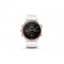 Garmin Fenix 5S Plus Sapphire Mulitsport GPS Smart Watch - White/Rose Gold