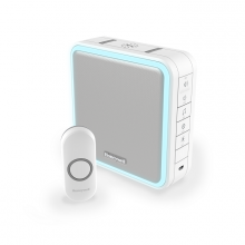 Honeywell Series 9 Wireless Portable Doorbell Kit with Halo Light & Sleep Mode, White