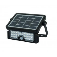 Luceco IP65 Rated Solar Guardian Floodlight with PIR, Black, 5W