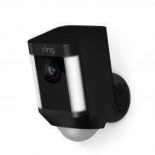 Ring Smart Spotlight Camera, Battery, Black