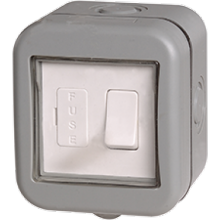IP55 Weatherproof 13A Switched Fused Connection Unit